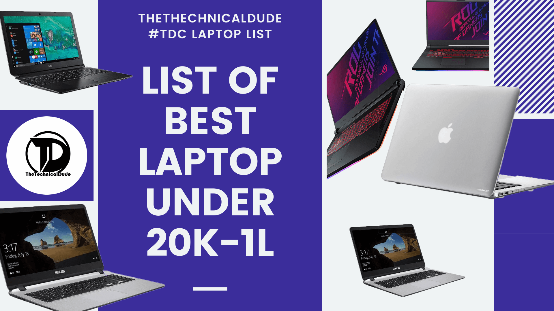 Best Laptops Under 20000 to 1 lakh (2020)