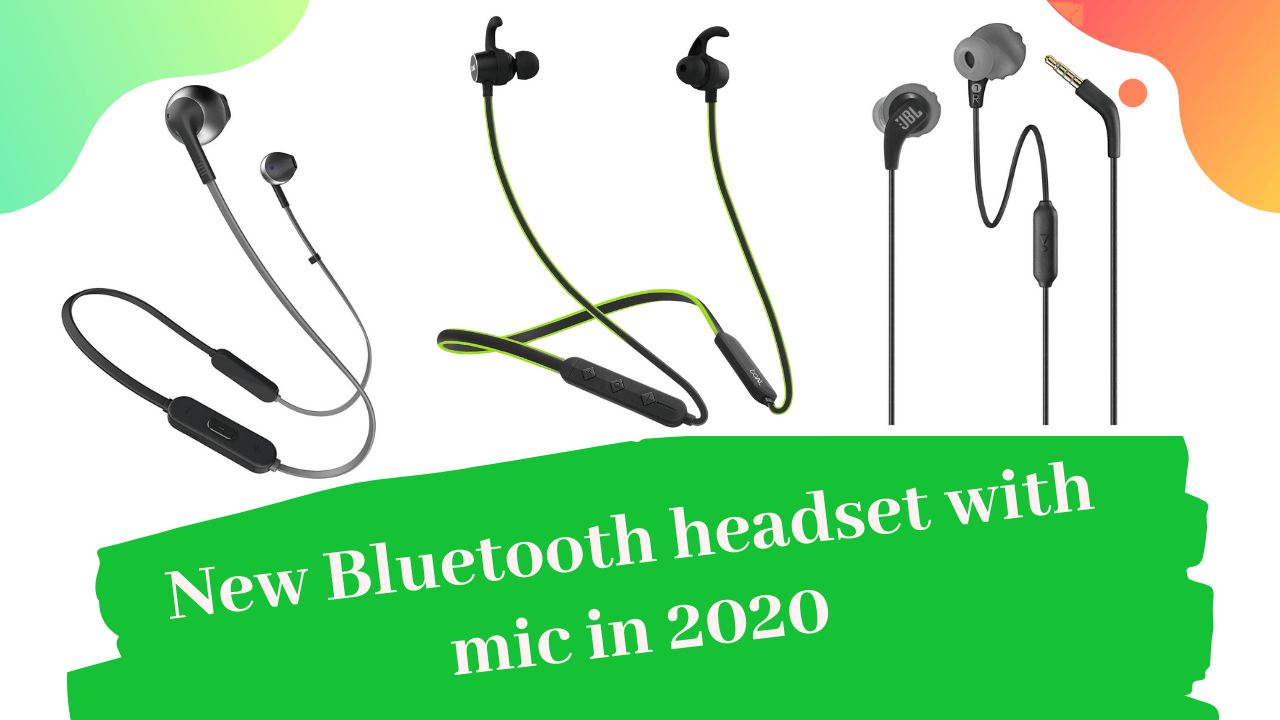New Bluetooth headset with mic in 2020